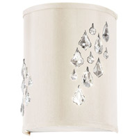 Dainolite Rhiannon 2 Light Sconce in Polished Chrome with Ivory Baroness Shade RHI-8R-2W-695