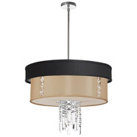 Dainolite Lighting Rita 3 Light Chandelier in Polished Chrome  RITA-24-3-PC-694-839