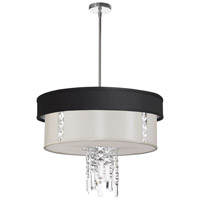 Dainolite Rita 3 Light Chandelier in Polished Chrome RITA-24-3-PC-694-840
