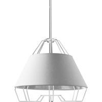Dainolite ROC-1512-691 Rockwell LED 15 inch White Pendant Ceiling Light