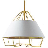 Dainolite ROC-2420-692 Rockwell LED 24 inch Gold Pendant Ceiling Light