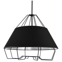Dainolite ROC-2420-697 Rockwell LED 24 inch Black Pendant Ceiling Light