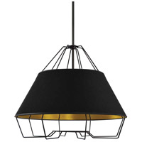 Dainolite ROC-2420-698 Rockwell LED 24 inch Black Pendant Ceiling Light