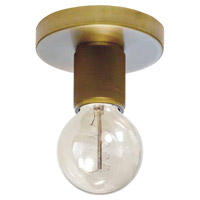 Dainolite RSW-41FH-AGB Roswell 1 Light 5 inch Aged Brass Flush Mount Ceiling Light