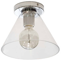 Dainolite RSW-91FH-PC-CLR Roswell 1 Light 9 inch Polished Chrome/Clear Flush Mount Ceiling Light