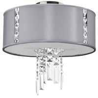 Dainolite Rita 2 Light Semi-Flush Mount in Polished Chrome with Silk Glow Steel Shade RTA-12SF-PC-834