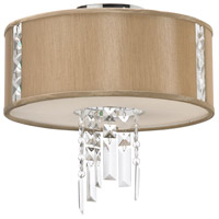 Dainolite Rita 2 Light Semi-Flush Mount in Polished Chrome with Silk Glow Latte Shade RTA-12SF-PC-838