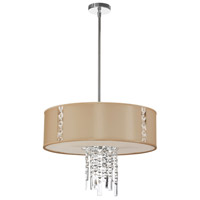 Dainolite Rita 3 Light Pendant in Polished Chrome with Silk Glow Cream Shade RTA-21-PC-839
