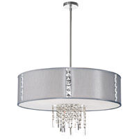Dainolite Rita 4 Light Pendant in Polished Chrome with Silk Glow Steel Shade RTA-29-PC-834