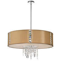 Dainolite Rita 4 Light Chandelier in Polished Chrome RTA-29-PC-838
