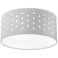 Dainolite SAB-153FH-PC-WH Sabrina LED 15 inch Polished Chrome Flushmount Ceiling Light Drum