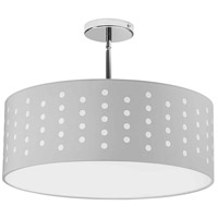 Dainolite SAB-194P-PC-WH Sabrina LED 19 inch Polished Chrome Pendant Ceiling Light Drum