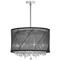 Saffron 6 Light 18 inch Polished Chrome Chandelier Ceiling Light