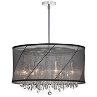 Saffron 8 Light 22 inch Polished Chrome Chandelier Ceiling Light