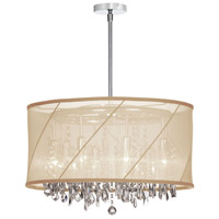 Dainolite Saffron 8 Light Chandelier in Polished Chrome SAF-22-8-1717