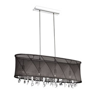 Dainolite Saffron 4 Light Chandelier in Polished Chrome SAF-34-4-1515