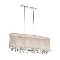 Dainolite Saffron 4 Light Chandelier in Polished Chrome SAF-34-4-1717
