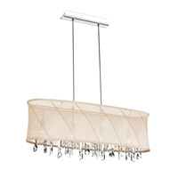 Dainolite Saffron 4 Light Chandelier in Polished Chrome SAF-34-4-1818