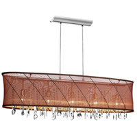 Dainolite Saffron 5 Light Chandelier in Polished Chrome SAF-44-5-1011