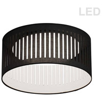 Dainolite SDLED-15FH-BK Slit Drum LED 15 inch White Flushmount Ceiling Light in Black photo thumbnail