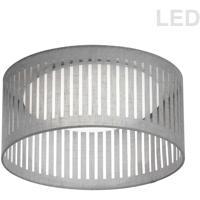 Dainolite SDLED-15FH-GRY Slit Drum LED 15 inch White Flushmount Ceiling Light in Grey