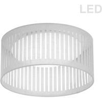Dainolite SDLED-15FH-WH Slit Drum LED 15 inch White Flushmount Ceiling Light