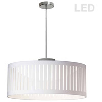 Slit Drum LED 20 inch Polished Chrome Pendant Ceiling Light
