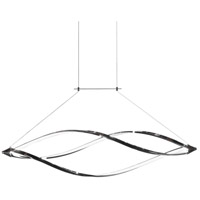 Selene LED 43 inch Polished Chrome Horizontal Pendant Ceiling Light, Swooped Arms