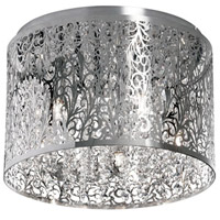 Dainolite SIE-104FH-PC Sienna LED 10 inch Polished Chrome Flush Mount Ceiling Light thumb