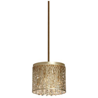 Sienna 4 Light 10 inch Palladium Gold Chandelier Ceiling Light