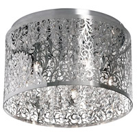 Sienna 5 Light 14 inch Polished Chrome Flush Mount Ceiling Light