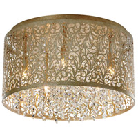 Sienna 5 Light 14 inch Palladium Gold Flush Mount Ceiling Light