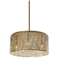 Dainolite SIE-208C-PG Sienna LED 20 inch Palladium Gold Chandelier Ceiling Light photo thumbnail