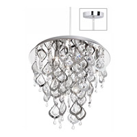 Dainolite Silhouette 5 Light Chandelier in Polished Chrome SIL-1615C-PC