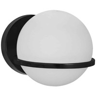 Dainolite SOF-61W-MB Sofia 1 Light 6 inch Matte Black/Opal White Wall Light Decorative