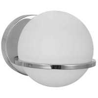 Dainolite SOF-61W-PC Sofia 1 Light 6 inch Polished Chrome/Opal White Wall Light Decorative