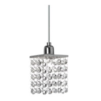 Dainolite Staro 1 Light Pendant in Polished Chrome STA-611P-PC
