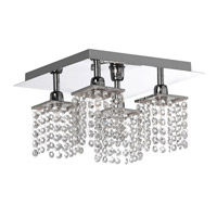 Dainolite Staro 4 Light Flush Mount in Polished Chrome STA-664FH-PC