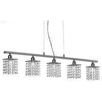 Staro 5 Light 37 inch Polished Chrome Horizontal Pendant Ceiling Light