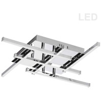 Dainolite SUM-2020FH-PC Summit LED 20 inch Polished Chrome Flush Mount Ceiling Light