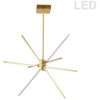 Dainolite SUM-34P-AGB Summit LED 28 inch Aged Brass Pendant Ceiling Light