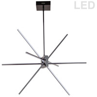 Dainolite SUM-34P-MB Summit LED 28 inch Matte Black Pendant Ceiling Light thumb