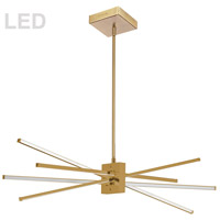 Dainolite SUM-35HP-AGB Summit LED 34 inch Aged Brass Pendant Ceiling Light thumb