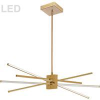 Dainolite SUM-35HP-AGB Summit LED 34 inch Aged Brass Pendant Ceiling Light
