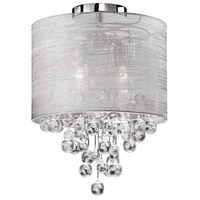 Dainolite TAH-122FH-PC Tahnee 2 Light 12 inch Polished Chrome Flush Mount Ceiling Light