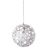 Dainolite TAL-141P-691 Talini 1 Light Polished Chrome Pendant Ceiling Light Kirigami