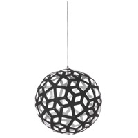 Talini 1 Light Matte Black Pendant Ceiling Light, Kirigami
