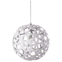 Talini 1 Light 22 inch White and Silver Pendant Ceiling Light