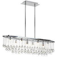 Dainolite Tamara 8 Light Chandelier in Polished Chrome with Clear Glass Droplets TAM-368HC-PC