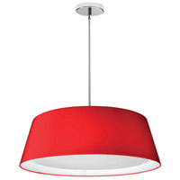Signature 1 Light 24 inch Red Pendant Ceiling Light